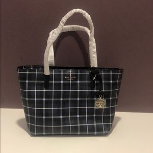Kate Spade ♠️ Navy plaid medium tote